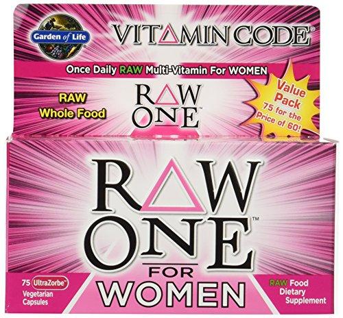 Garden of Life Vitamin Code Raw One for Women [2 packs of 75 each]