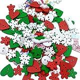 Colori misto Dipinte Bottoni Di Legno Fai Da Te Mestiere Scrapbooking Per Cucito E Natale Decorazione
