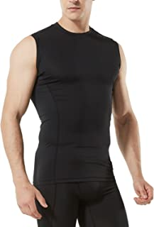Tesla Men's Sleeveless Muscle Tank Dry Compression Baselayer