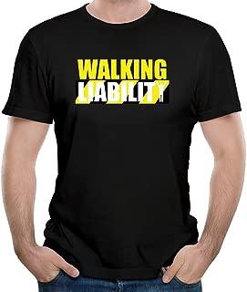 Men's Funny Walking Liability Wordmark T-shirt 100% Cotton