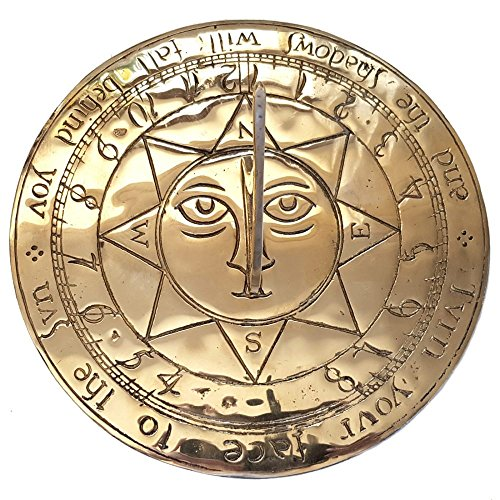garden ornaments and accessories Giant Sun Face Brass Sundial