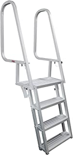 Extreme Max Silver 5-Step 3005.4119 Deluxe Flip-Up Dock Ladder-5-Step