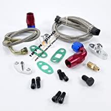 Ispeedytech Single Turbo Oil Feed Line Kit Flange Kit for Toyota Supra 1JZGTE 2JZGTE 1JZ/2JZ