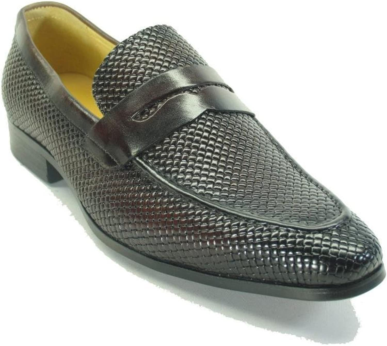 Carrucci Embossed Woven Penny Loafer KS478-110E