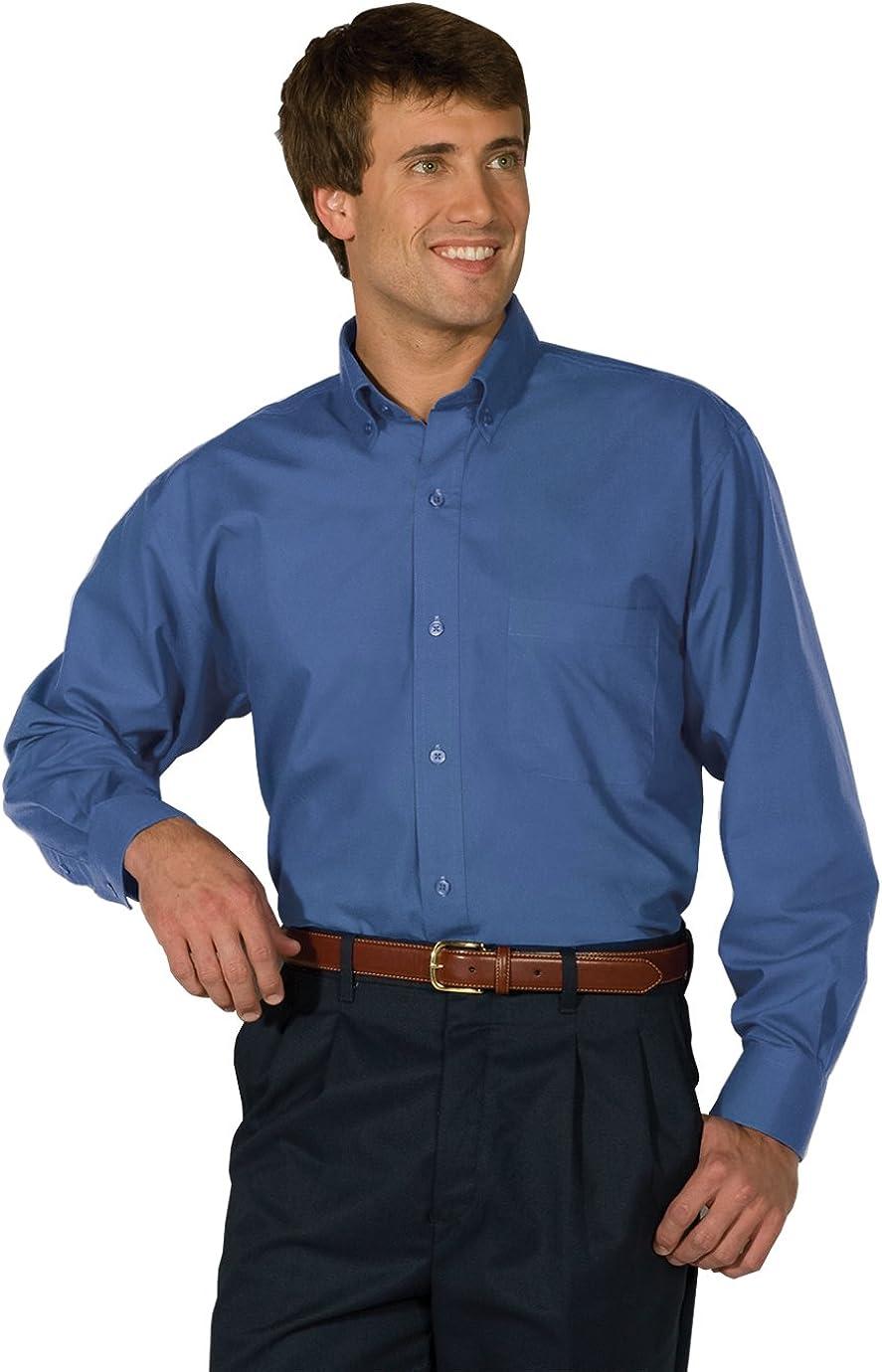 Edwards Garment Men's Big And Tall Easy Care Poplin Shirt_FRENCH BLUE_XLT