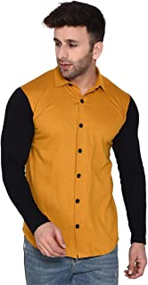 Blisstone Men's Cotton Full Sleeve Spread Collar Casual Shirt