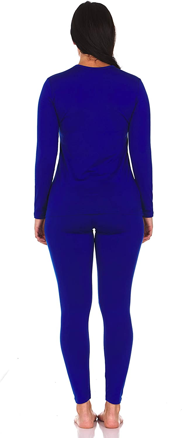 Thermajane Womens Ultra Soft Thermal Underwear Long Johns Set with Fleece Lined