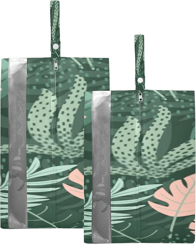 Waterproof Travel Shoe Ranking TOP4 Bag Pack Leaves Zipper Indefinitely Tropical Hand