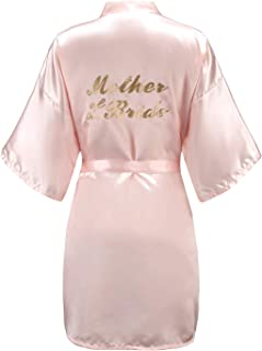 EPLAZA Women One Size Bride Bridesmaid Robes with Gold Glitter for Wedding Party