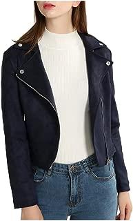 Motorcycle Style Womens Leather Jacket - Genuine Lambskin Biker Leather Jacket for Women