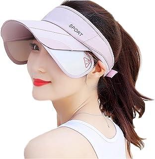 WRELS Summer Wide Brim Sun Visor Hat for Women Men,Adjustable Retractable Brim UV Protection Summer Sports Unisex Cap