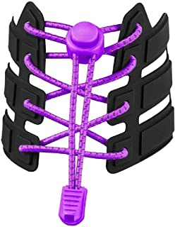 No Tie Shoelaces, Reflective Elastic Lock Shoe Laces by iLiveX, One Size Fits All Adult and Kids Shoes
