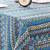 Mantel de Estilo nórdico, Tela de algodón y Lino, Varios Patrones, Utilizado para la decoración de Mesa de Centro y Mesa de Centro 140x200cm 02