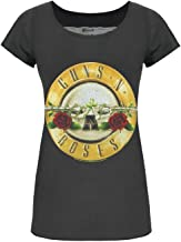 Amplified Womens/Ladies Guns N Roses Drum Charcoal T-Shirt