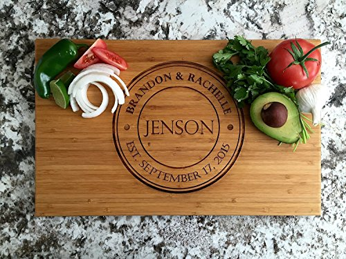 Qualtry - Personalized Wood Cutting Boards - Perfect Gifts For Weddings, Bridal Showers, and...