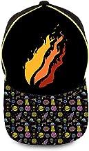 NJLLOS PrestonPlayz Gamer Flame Kid Baseball Cap Printing Trucker Hat for Boys Girls Ages 4-12