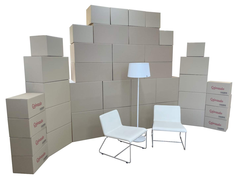 Cajeando | Pack Mudanza EXTRA GRANDE (25 Cajas + Precinto, Etiquetas y Burbujas) | Cajas de Cartón de Canal Simple, Doble y de Color Marrón | Fabricadas en España: Amazon.es: Oficina y papelería