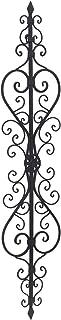 Adeco Metal Wall Decor, Decorative Victorian Style Hanging Art, Iron Decor 8.5 x 40 Inches, Black
