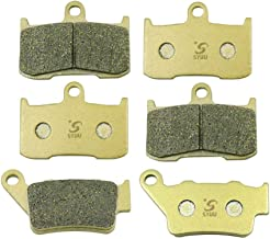 SYUU Motorcycle Replacement Front Rear Brake Pads Brakes for Triumph Street Triple 675 R 2013 2014 2015 2016 Street Triple RX 675 2015 2016 FA347F FA213R