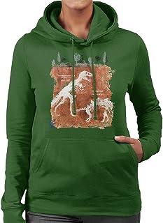 Jurassic Park T Rex Fossils Women's Hooded Sweatshirt