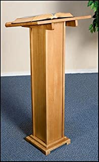 Maple Hardwood Standing Lectern in Pecan Stain Finish, 43 Inch