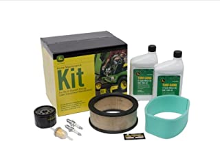 John Deere Maintenance Kit Fits L130, G100, G110 Lawn Tractor Mower LG199 Filters Oil - Free Filter Wrench Included