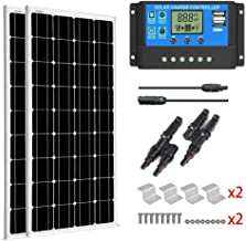 SUNGOLDPOWER 200 Watt 12V Monocrystalline Solar Panel Module Kit:2pcs 100W Mono Solar..