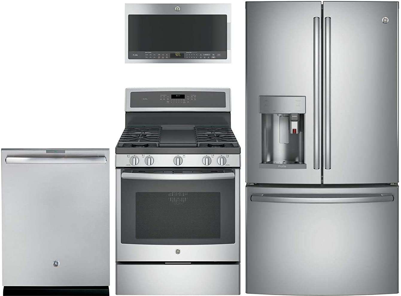 GE Profile 4Pcs Kitchen Package With PFE28PSKSS 36