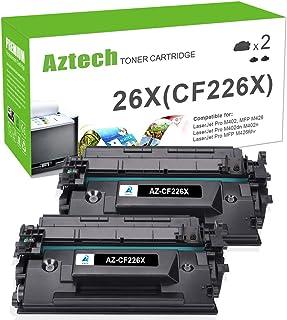 Aztech Compatible Toner Cartridge Replacement for HP 26X CF226X 26A CF226A Laserjet Pro MFP M426fdw M426fdn M426dw Laserjet Pro M402n M402dw M402dn (Black, 2-Pack)