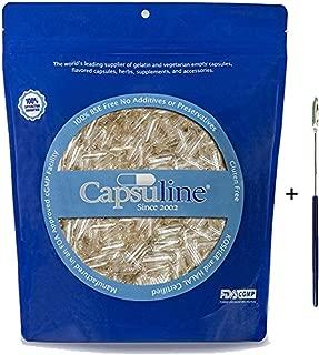 Clear Size 0 Empty Gelatin Capsule + Micro Spoon Spatula Pack