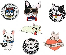 7 Pcs Funny Cartoon French Bulldog Acrylic Refrigerator Magnets Crafts Kawaii Dog Cute Animal Heart Letters I Love You Fridge Magnet Fridge Sticker Kitchen Magnet Toys for Toddlers Kids Babies