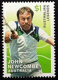 John Newcombe, Australian Legends, Tennis -Handmade Framed Postage Stamp Art 21830AM