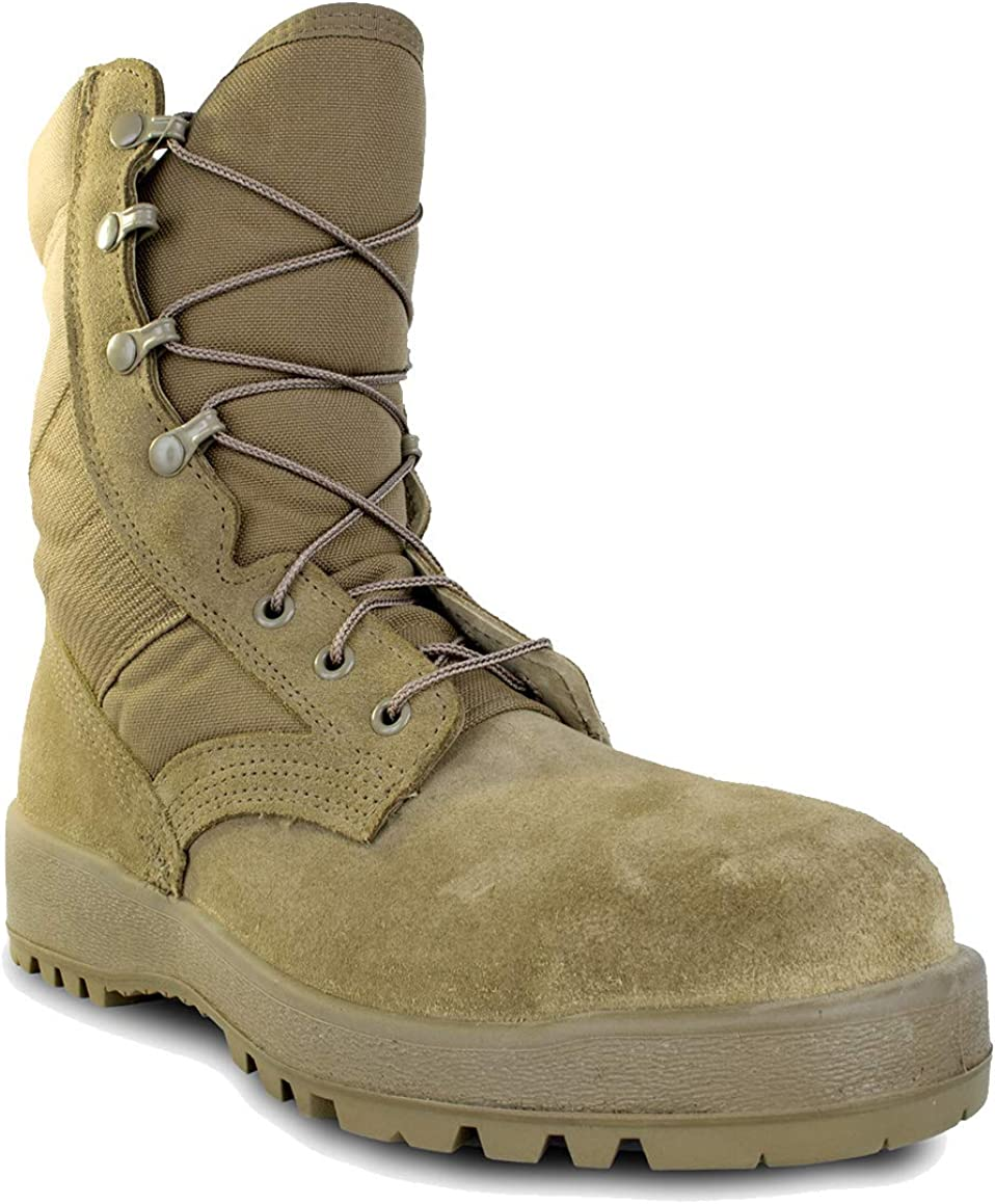 MCRAE Mil-Spec Hot Weather Boot in Steel-toe Coyote Direct store OFFicial store