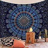 Mandala indio tapiz grande para colgar en la pared alfombra de playa manta colchón colchón bohemio tapiz para dormir A19 150x200cm