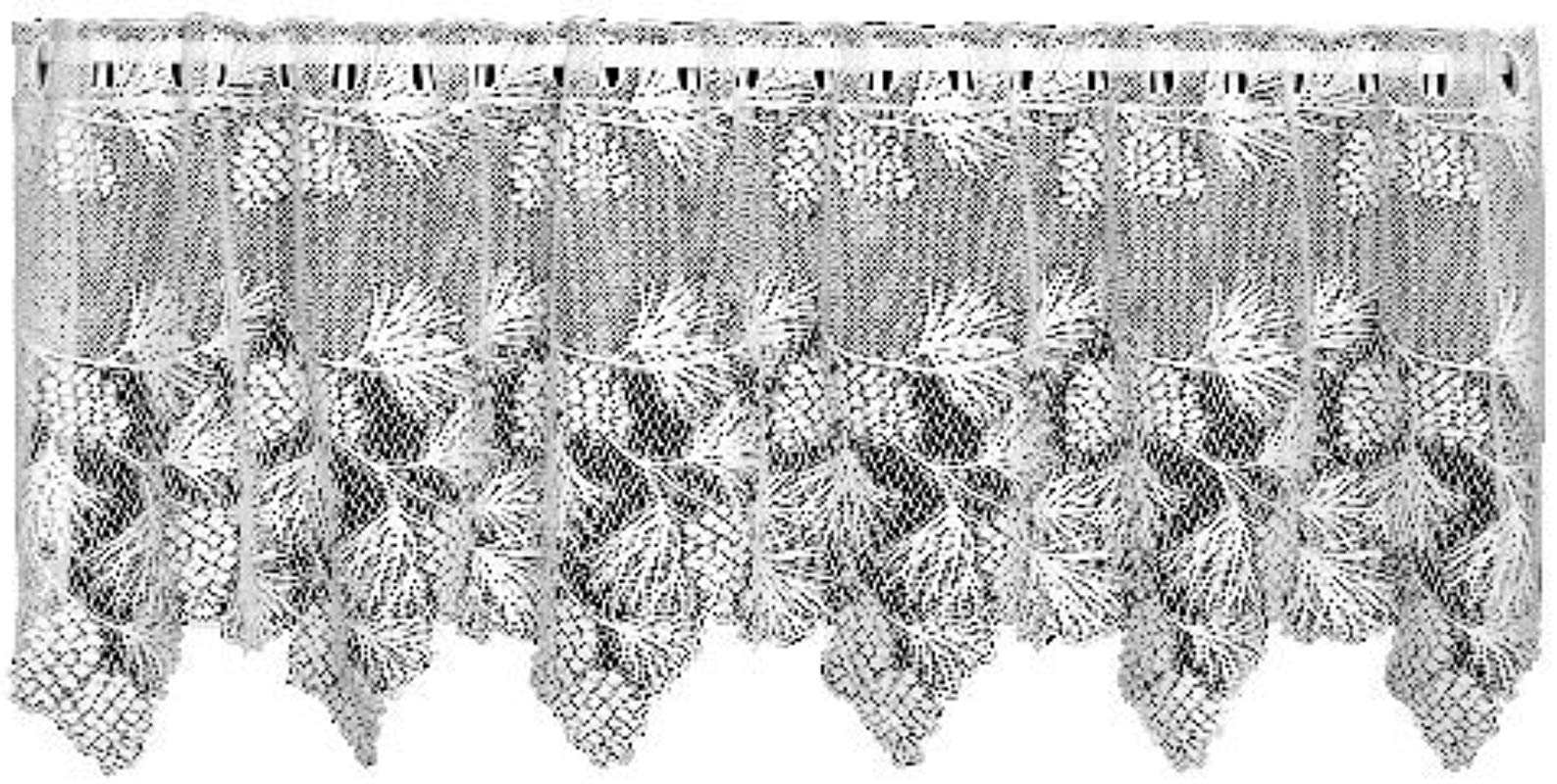 Heritage Lace Woodland 60 Inch Wide By 30 Inch Drop Tier Ecru