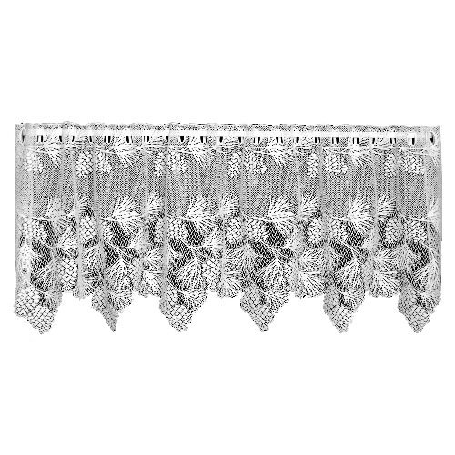 Heritage Lace Woodland 60-Inch Wide by 24-Inch Drop Tier, Ecru