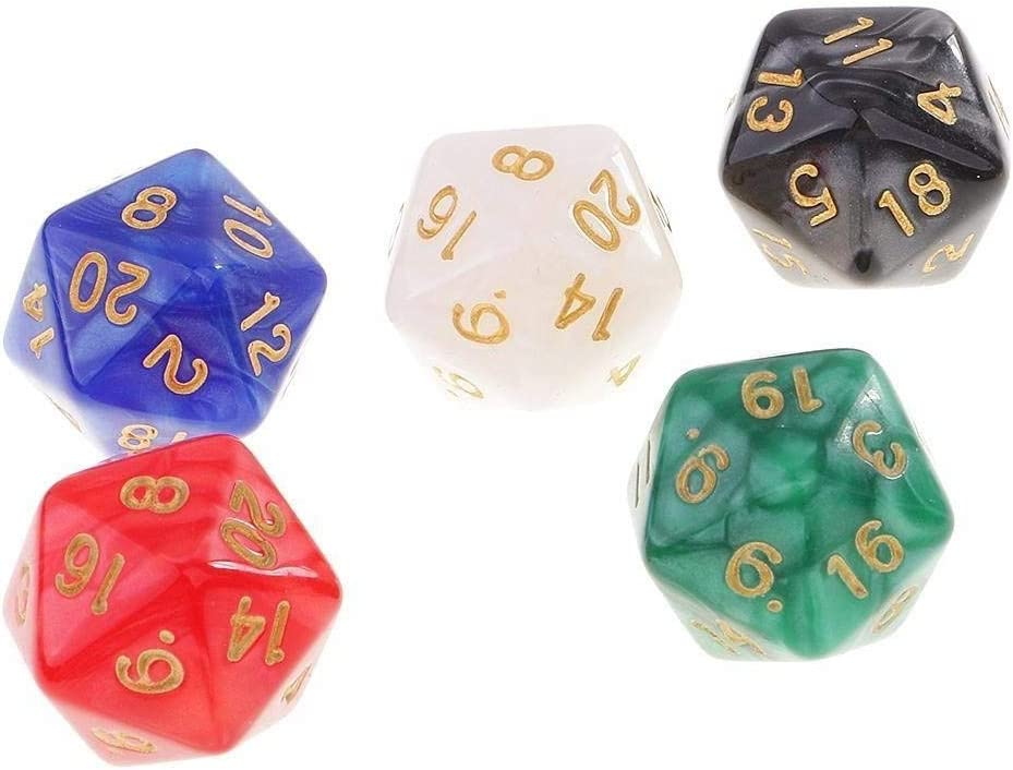 TX GIRL 50Pcs Polyhedral Dice D20 5 Craps D8 Colors Indefinitely Outlet ☆ Free Shipping Se