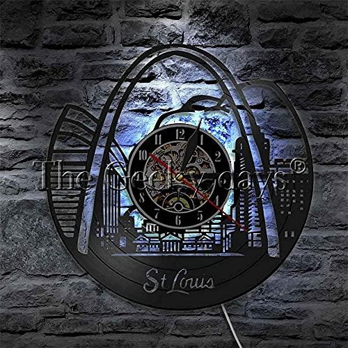 Reloj De Pared St. Louis Skyline Led Light STL City 3D Lámpara De Pared Led American Travel Lámpara De Pared Que Cambia De Color con Control Remoto Lámpara De Pared Led