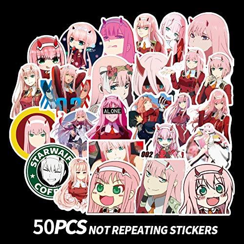 XXCKA Anime Aufkleber Cosplay Glossy DIY Sammlergeschenk 50Pcs