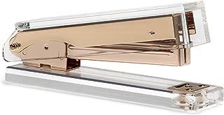 OfficeGoods Acrylic & Gold Stapler - A Classic Modern Design to Brighten Up Your Desk - Elegant Office Desk Accessory
