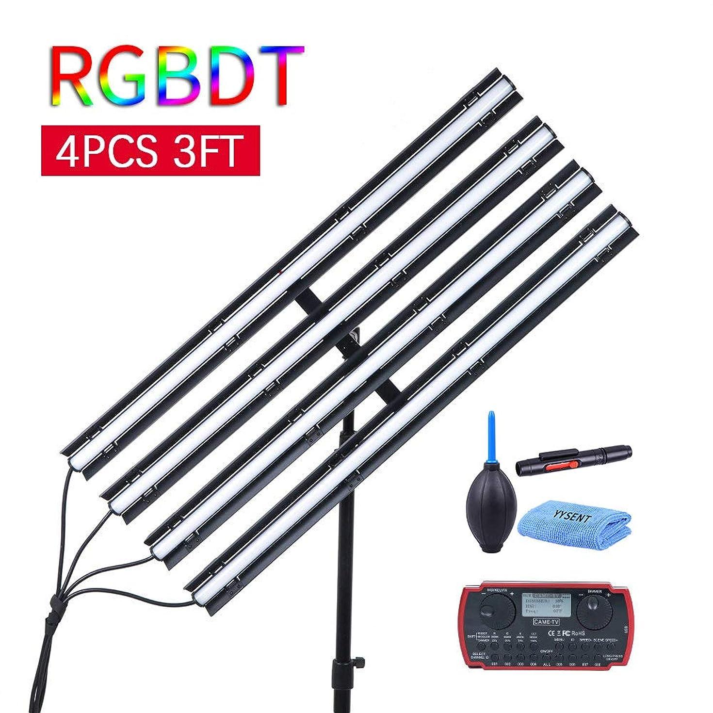 CAME-TV Boltzen Andromeda RGBDT Slim Tube LED Video Lighting Kit 4 Pcs 3FT-R Lights Ice Light Wand