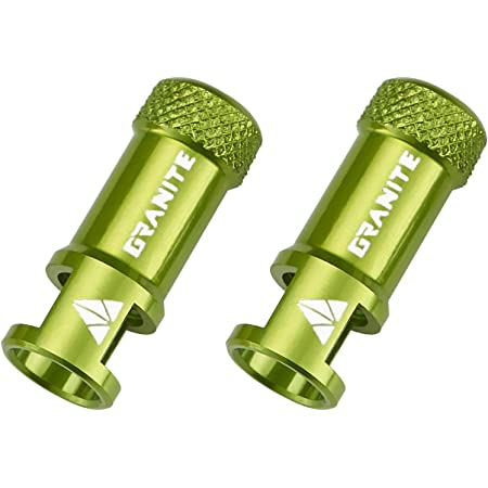 Token Alloy Bicycle Presta Valve Caps Green