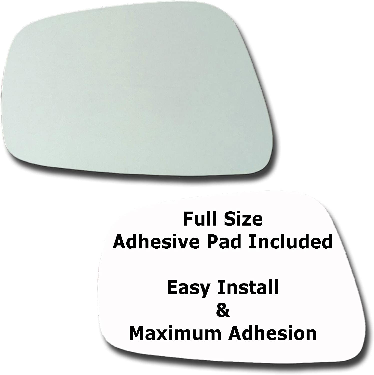 Mirror Glass + Full Size Adhesive New mail order Nissan for Pad ...