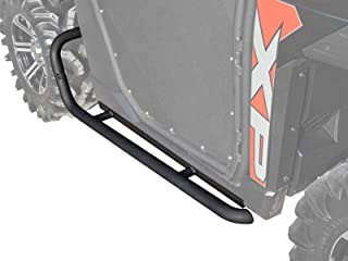 SuperATV Heavy Duty Rock Sliding Nerf Bars for Polaris Ranger Full Size 570/900- Wrinkle Black