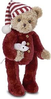 Bearington Sleepy and Squeek Christmas Plush Stuffed Animal Teddy Bear, 14 inches