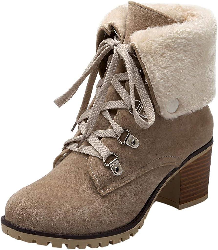 Baiggooswt Women Suede Max 84% OFF Non-Slip Sale Special Price Round Color Toe Square Heel Pure