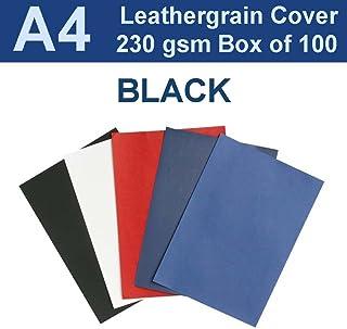 New A4 Leathergrain Binding Covers/Backing 230gsm - Black (PK 100)