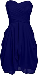 TalinaDress Women Short Ruffles Chiffon Evening Bridesmaid Dress Prom Gown E201LF