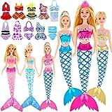 16 Sätze Meerjungfrau Schwanz Kleider Puppe Badeanzüge und Bikini Kleidung Meerjungfrau Puppe...