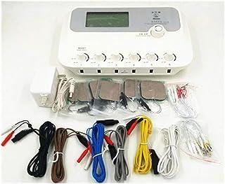 DXQDXQ Estimular TENS EMS Electroestimulador Estimulador Muscular Masajeador 6 Canales Digital Acupuntura Corporal Meridiano Máquina de Fisioterapia Electroestimulador Muscular de Relajación Personal